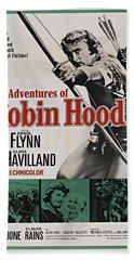 The Adventures Of Robin Hood B Beach Sheet