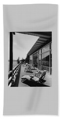 The Alfred Rose Lake Placid Summer Home Beach Towel