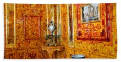 The Amber Room At Catherine Palace Beach Sheet