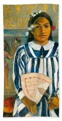 The Ancestors Of Tehamana Or Tehamana Has Many Parents.merahi Metua No Tehamana. Beach Towel