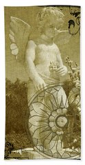 The Angel - Art Nouveau Beach Sheet by Absinthe Art By Michelle LeAnn Scott