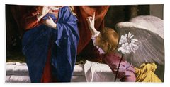 The Annunciation, C.1623 Oil On Canvas Detail Of 59265 Beach Towel