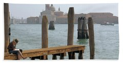 Beach Towel featuring the digital art The Artist by Ron Harpham