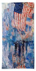 The Avenue In The Rain Beach Towel