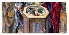 The Baleful Head, C.1876 Beach Towel by Sir Edward Coley Burne-Jones