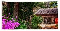 The Barn In Spring Beach Sheet by Tricia Marchlik