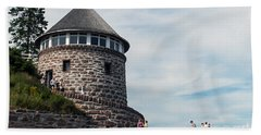 The Bath House On Ministers Island Nb Beach Towel