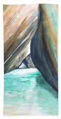 The Baths Turquoise Beach Sheet by Carlin Blahnik