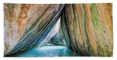 The Baths Virgin Gorda British Virgin Islands Beach Sheet by Olga Hamilton