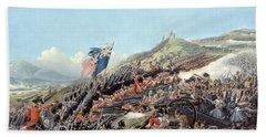 The Battle Of Alma On 20th September Beach Towel
