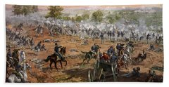 The Battle Of Gettysburg, July 1st-3rd Beach Towel