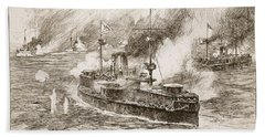 The Battle Of Yalu River, 1894 Beach Towel