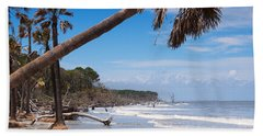 The Beach At Hunting Island State Park Beach Towel