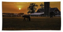 The Beauty Of A Rural Sunset Beach Towel
