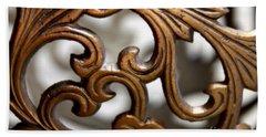 The Beauty Of Brass Scrolls 1 Beach Sheet