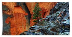 The Beauty Of Sandstone Zion Beach Towel
