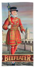 The Beefeater Beach Towel by Peter Green