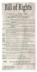 The Bill Of Rights Parchment Beach Towel