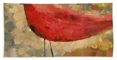 The Bird - K04d Beach Towel by Variance Collections