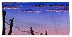 The Birds - Morning Has Broken Beach Sheet by Jack Malloch