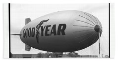 The Goodyear Blimp In 1979 Beach Towel