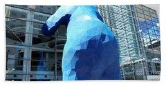 The Blue Bear Beach Sheet by Dany Lison