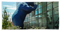 The Blue Bear  Beach Towel