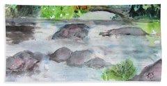 The Bog On Tupper Lake Beach Towel