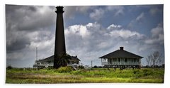 The Bolivar Lighthouse Beach Towel by Linda Unger