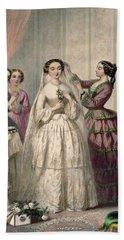 The Bride, Engraved By J. Battannier, 1852-53 Colour Litho Beach Towel