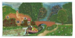 The Bridge Inn Beach Towel by John Williams
