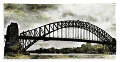 The Bridge Spattled Beach Towel