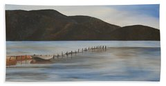 Beach Sheet featuring the painting The Calm Water Of Akyaka by Tracey Harrington-Simpson