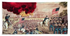 The Capture Of Atlanta By The Union Army Beach Towel