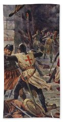 The Capture Of Constantinople Beach Towel