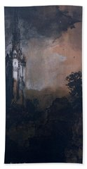 The Castle In The Moonlight  Beach Towel