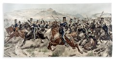 The Charge Of The Light Brigade, 1895 Beach Towel
