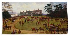 The Cheshire Hunt    The Meet At Calveley Hall  Beach Towel