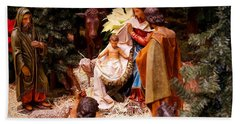 The Christmas Creche At Holy Name Cathedral - Chicago Beach Towel
