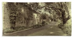 Beach Towel featuring the photograph The Church Lane by Elaine Teague