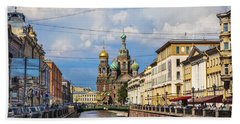 The Church Of Our Savior On Spilled Blood - St. Petersburg - Russia Beach Sheet by Madeline Ellis