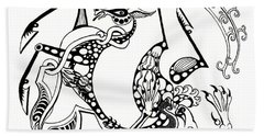 The Circle Of Life Beach Towel by Melinda Dare Benfield