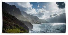 The Cliffs Of Kalalau Beach Towel