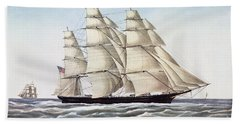 The Clipper Ship Flying Cloud Beach Towel