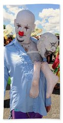 Beach Towel featuring the photograph The Clown by Ed Weidman