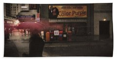 The Color Purple Beach Towel by Linda Unger