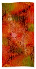 The Colors Of Autumn Abstract Beach Towel
