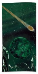 Beach Towel featuring the painting The Comet by Jason Girard