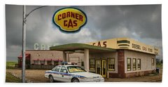 The Corner Gas Station From The Canadian Tv Sitcom Beach Towel