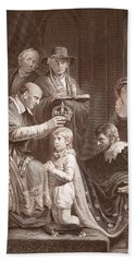 The Coronation Of Henry Vi, Engraved Beach Towel by John Opie